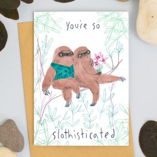 valentines sloth card