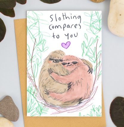 sloth love card