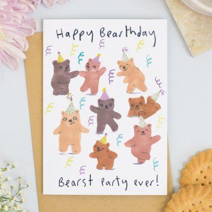 Bears birthday Party card