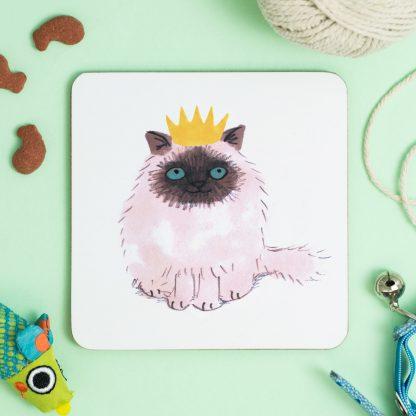 Cat in crown Coaster