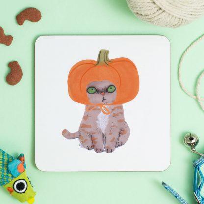 Cat in Pumpkin hat