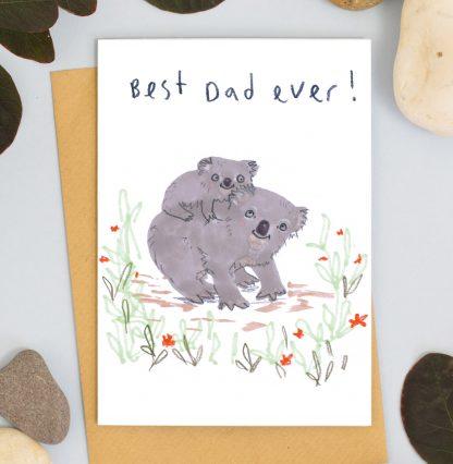 Koala fathers day card